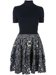 fit and flare turtleneck dress Balenciaga Vintage