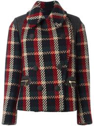 double-breasted checked jacket Kolor