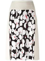 юбка с плиссированной вставкой Jil Sander Navy