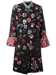 пальто с цветочной вышивкой Ermanno Gallamini