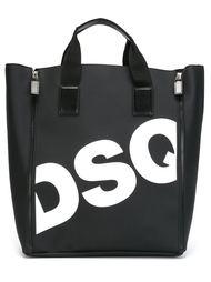 сумка-шопер с логотипом  Dsquared2