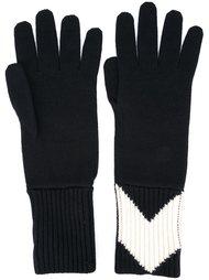 перчатки в рубчик Moncler Gamme Bleu