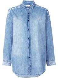 джинсовая рубашка с рваными деталями Iro