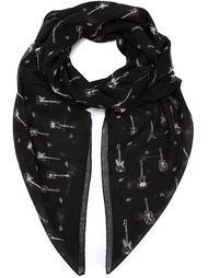 шарф с принтом гитар Saint Laurent