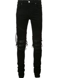 узкие рваные джинсы Amiri