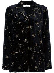рубашка в пижамном стиле с вышитыми звездами Valentino