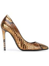 туфли с эффектом змеиной кожи Ermanno Scervino
