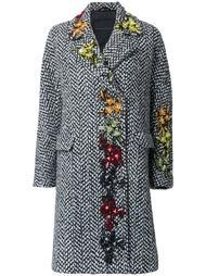 декорированное пальто Ermanno Scervino