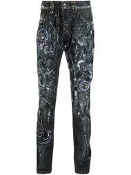 джинсы с линялым эффектом Philipp Plein
