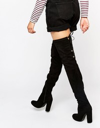 Ботфорты на каблуке Boohoo - Черный