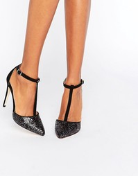 Туфли-лодочки с блестками Miss KG - Черный