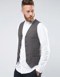 Зауженный жилет с карманами Heart & Dagger - Серый