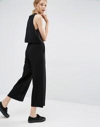 Широкие укороченные брюки Dr Denim Abel - Черный