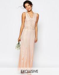 Платье макси с отделкой Maya Vintage - Розовый