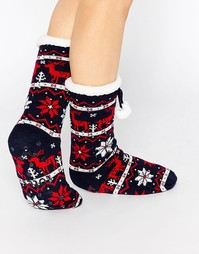 Женские носки с оленями Totes - Темно-синий