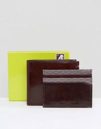 Складной бумажник и визитница с принтом Ted Baker - Коричневый
