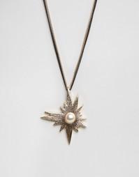 Ожерелье с камнем Nylon - Золотой