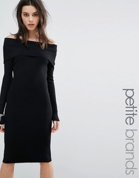 Трикотажное платье с открытыми плечами Noisy May Petite - Черный