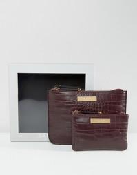 Подарочный набор с сумочкой и кошельком на молнии Carvela - Красный