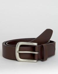 Классический кожаный ремень шоколадного цвета Jack Wills - Коричневый