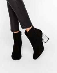 London Rebel Round Heel Boot with Mirror Heel - Черный