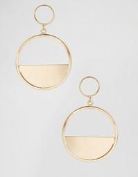 Двойные серьги-кольца Ashiana - Золотой
