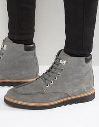 Замшевые ботинки на шнуровке Kickers Kwamie - Серый