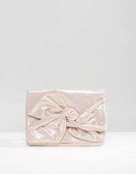 Клатч с мягким бантом ASOS - Розовый