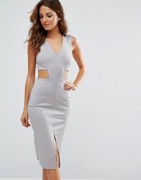 Облегающее платье с V‑образным вырезом Twin Sister - Серый