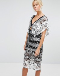 Платье миди с вырезом Foxiedox Deville - Белый