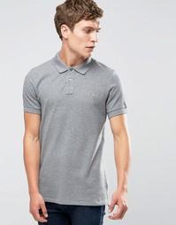 Серая меланжевая футболка‑поло слим с логотипом Paul Smith - Серый