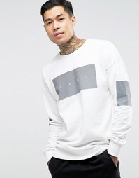 Jack & Jones Sweat with Chest and Sleeve Placement - Белый