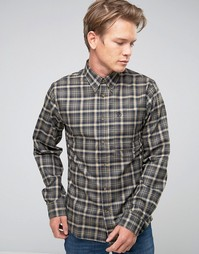 Fjallraven Shirt In Check Flannel Slim Fit Black - Черный