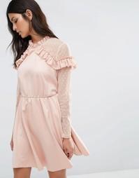Платье Y.A.S Roman - Розовый