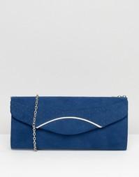 Клатч с серебристой отделкой Lotus - Синий