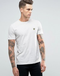 Светло-бежевая меланжевая футболка с логотипом Lyle & Scott - Бежевый