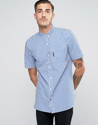 Клетчатая рубашка с короткими рукавами Lambretta - Темно-синий