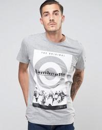 Футболка с принтом Lambretta - Серый