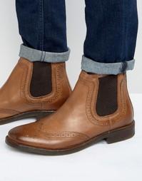 Кожаные ботинки челси Base London Southwark - Рыжий