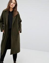 Пальто в клетку Parka London Rosie - Зеленый