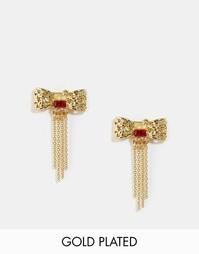 Серьги-гвоздики в виде бантиков Les Nereides - Золотой