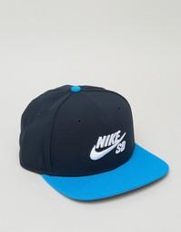 Синяя кепка Nike SB Icon Pro 628683-479 - Синий