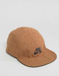 Зеленая двусторонняя 5‑панельная кепка Nike SB 804541-325 - Зеленый