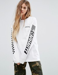 Carhartt WIP Cart Oversized Long Sleeve T-Shirt With Logo Arm Print - Белый