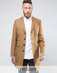 Heart and Dagger Woven in England 100% Wool Overcoat - Бежевый