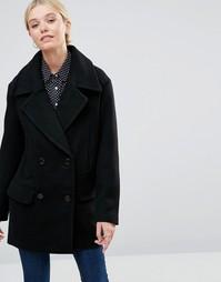 Двубортное пальто See U Soon - Черный