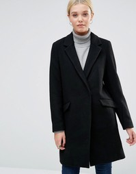 Однобортное пальто See U Soon - Черный