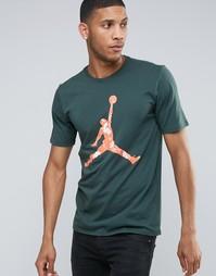Зеленая футболка Nike Air Jordan Hand Down 801601-327 - Зеленый