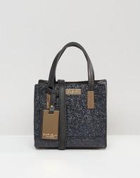 Кожаная сумка мини через плечо с блестками Whistles - Черный Carvela