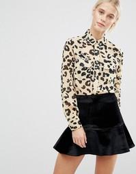 Рубашка с леопардовым принтом Lost Ink - Мульти